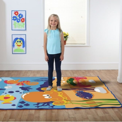 1.5 Metre Under the Sea Carpet,Under the Sea Rectangular Placement Carpet,school equipment supplier,School carpets,school rugs,classroom rugs